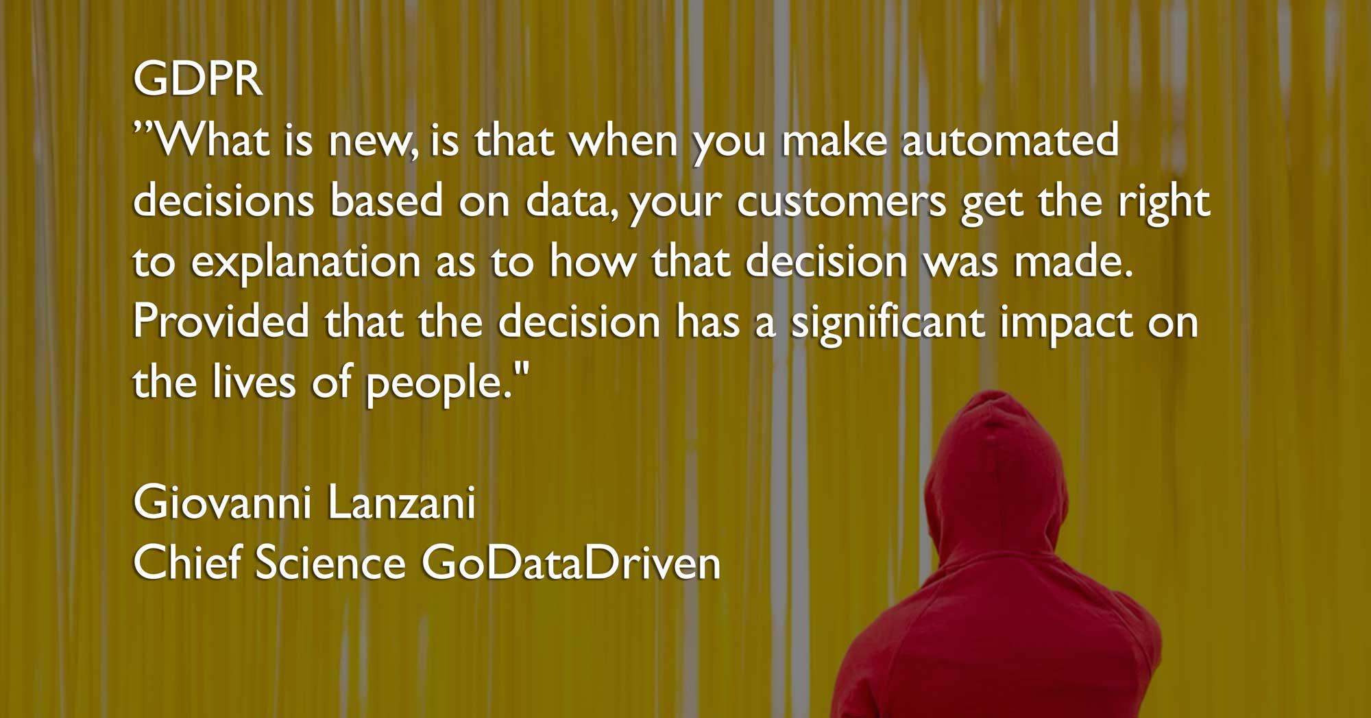 GDPR Blogpost quote Giovanni - Chief Data Science