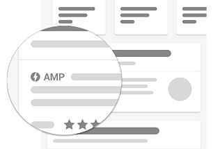 Google shows the AMP tag for search results that support it