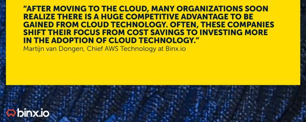 Cloud adoption blog xebia - quote Martijn van Dongen
